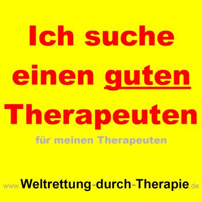 Ich suche einen Therapeuten